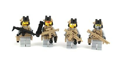 Ranger Squad 4 US Army Special Forces Soldiers (SKU41) made w/ LEGO® minifigures