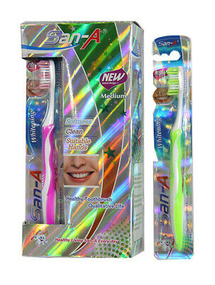 Bulk Lot x 12 Full Head Toothbrush Medium With Antislip Handle
