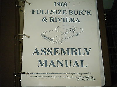 1969 Buick Full Size & Riviera Assembly Manual Electra Wildcat Lesabre