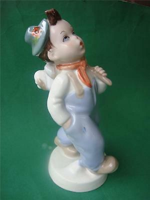 ROYAL DUX  Porcelain Figurine  Boy with Dog Made In Czechoslovakia vintage 1950s