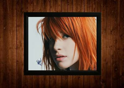 Hayley Williams Signed Framed Pp A4 Print Gift Ideas Paramore Still Into You