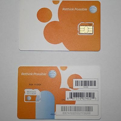 AT&T MICRO SIM 3G/4G/LTE POSTPAID OR GO PHONE ACTIVATION/REPLACEMENT