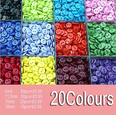 New Colorful resin buttons child button clothes accessories 4 Szies 20Colors