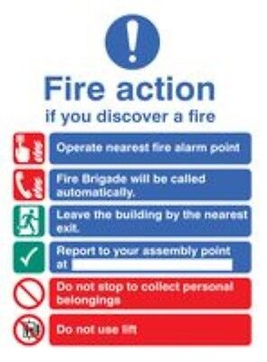 MPN: 31428E _ Sign Fire Action Auto Dial Glow Rp _ Signs / Pack of: 1