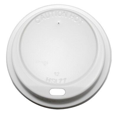 100 x P12DL Sip Thru Lids To Fit 12oz Dart Foam/ Polystyrene Cups 12LX12 Lids