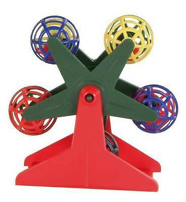 Budgie Canary Ferris Wheel Bird Toy With Rattle Balls - 10 Cm
