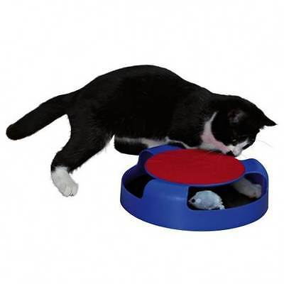 Catch The Mouse Cat Kitten Moving toy with Scratching Mat Play Toy