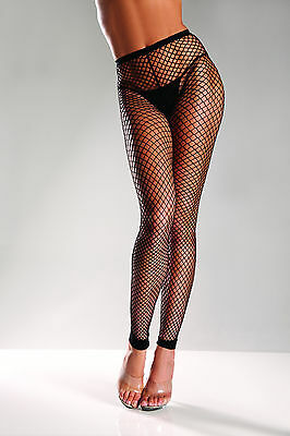 sexy BE WICKED fence INDUSTRIAL fish net FOOTLESS netted LEGGINGS nylons HOSIERY