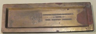 Vintage Miller Scoring Machine Copper Tray