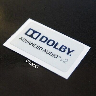 DOLBY ADVANCED AUDIO V2 Sticker 12mm x 21mm - New & Genuine