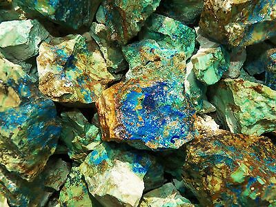 1000 Carat Lots of Azurite - Malachite Rough - Plus a FREE Faceted Gemstone