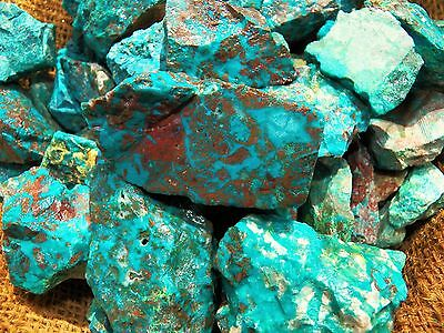 3000 Carat Lots of  Chrysocolla & Turquoise Rough - Plus a FREE Faceted Gemstone