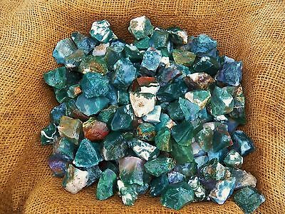 2000 Carat Lots of Green Moss Agate Rough - Plus a FREE Faceted Gemstone