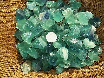 3000 Carat Lots of Green Flourite Rough - Plus a FREE Faceted Gemstone