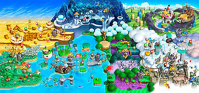 Pokemon 3ds world map poster huge 34 in x 20 in fast shipping super mario map wall poster huge 20 in x 30 in fast shipping gumiabroncs Image collections