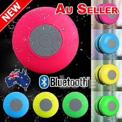 Wireless Waterproof Bluetooth Speaker MIC Suction Car Shower Music Handsfree