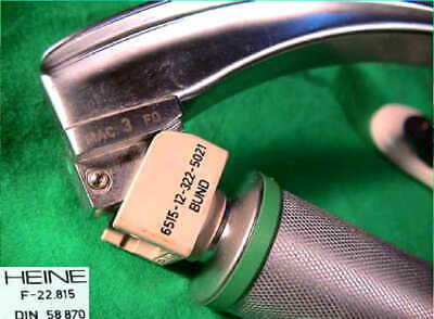 Heine Kaltlicht Fiber Optik Intubation Mac 3 Spatel Laryngoscope Emergency Ktw Y