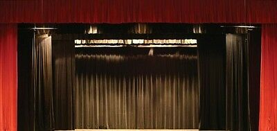 NEW Stage Curtain~14 x 13 Fire Retardant Black Backdrop~FREE SHIPPING~More Sizes
