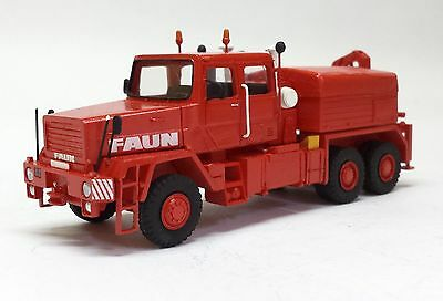 HO 1/87 Faun HZ 40.45/45W 6x6 with crane - Deutschland - Readymade Resin Model