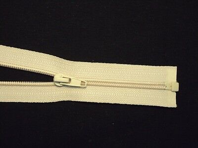 """400 Champagne/Nude OPEN end zippers (Size 6"""")"""
