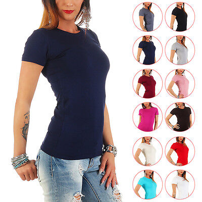 BALI Lingerie - Damen Kurzarm Shirt Rundhals T-Shirt Top Body