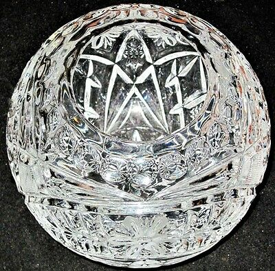 Stunning Crystal? Molded w/ hand cut accents Clear Bowl Candy 1 of a kind
