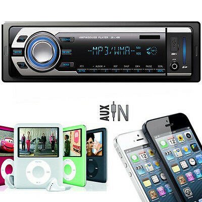 Car Audio Stereo In-Dash MP3 Player Radio & USB SD WMA AUX input FM Receiver