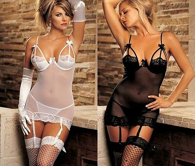 Ladies Sexy Sheer Babydoll Negligee Nightwear Sleepwear Lingerie Underwear.