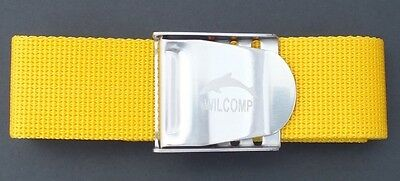 Scuba Snorkelling Yellow Weight Belt with Stainless Steel Buckle WIL-WB-02Y