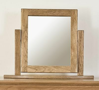 Toulon solid oak furniture dressing table mirror