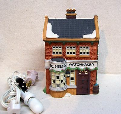 Department 56 Dickens' Village Geo Weeton Watchmaker 1988 W/Box #5926-9