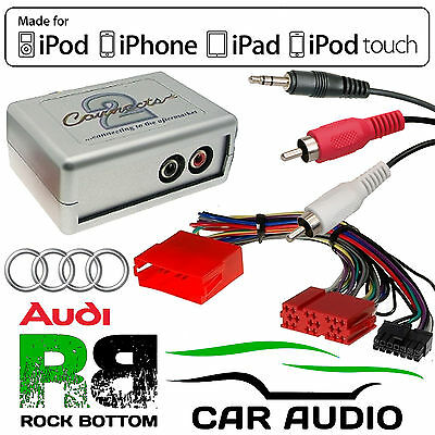 CTVADX001 Audi A4 1997 - 2005 Car Aux Input MP3 iPhone iPod Interface Adaptor