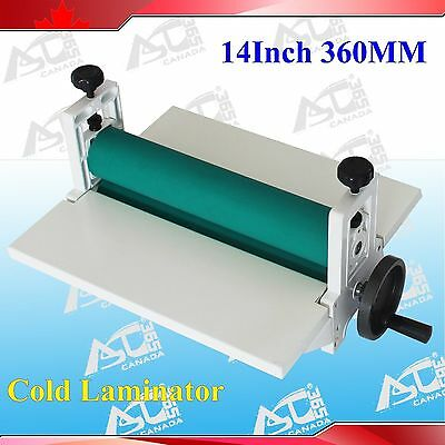 All Metal Frame 14Inch 360MM Manual Cold Roll Laminator Mount Laminating Machine