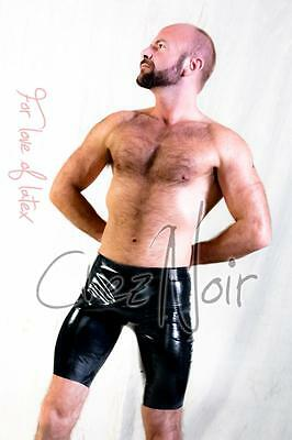 Chlorinated Latex Bermuda Shorts - Unisex - Black or Red - Rubber Fetish Gummi