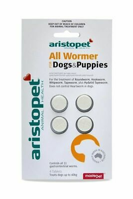Aristopet All Wormer Tablets for worming Dogs & Puppies x 4 Pack worm dogs
