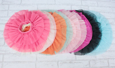 Girls Rara Tulle Tutu Skirt  9 12 18 Month 2 3 4 5 6 7 Year in 12 Colours