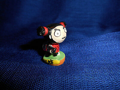 NINJA GARU Round Base GUITAR PUCCA PUNK LOVE Mini Figure French Porcelain FEVES