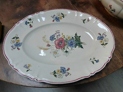 ancien GRAND PLAT long  FAIENCE SARREGUEMINES AGRESTE