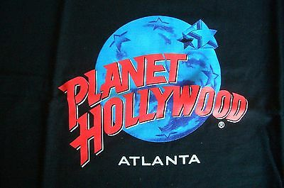 Planet Hollywood Atlanta Black Tee Size L XL-Fotos NWT Neu