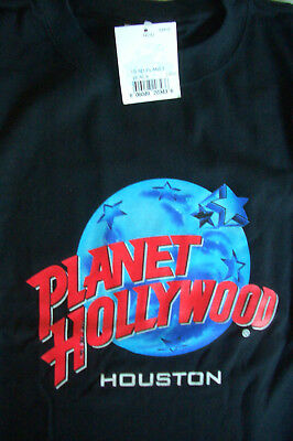 Planet Hollywood Houston Texas Black Tee Size L XL-Fotos NWT Neu