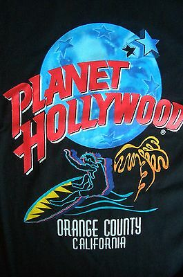 Planet Hollywood Orange County California Black Tee Size L XL-Fotos Neu