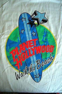 Planet Hollywood Waikiki Hawaii White Tee Size L XL-Fotos Neu NWT