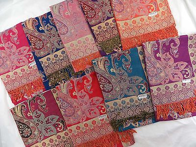 US SELLER-wholesale 10 pashmina neck shoulder scarfs paisley vintage thick