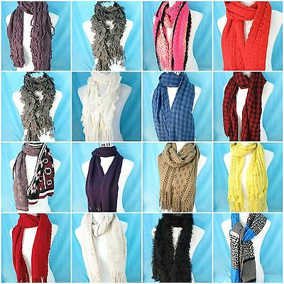 US SELLER-$3 / each, wholesale lot of 15 unisex winter soft warm cozy scarves