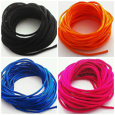 5 metres of Rattail Satin Cord 2mm choice of 4 colours. Ideal 4 Kumihimo Macrame