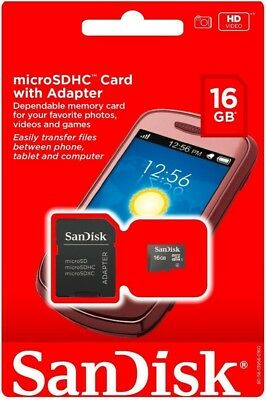 SanDisk 16GB Micro SD SDCH TF Flash MicroSD Memory Card 16G New Retail Package