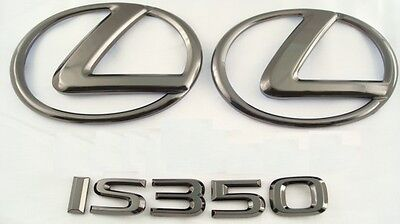 For: 2011-2013 Lexus Is350 Black Pearl Plated Emblem Kit