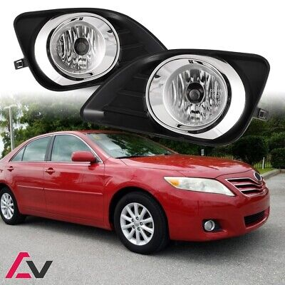 10-11 For Toyota Camry Clear Lens Pair OE Fog Light Lamp+Wiring+Switch Kit DOT