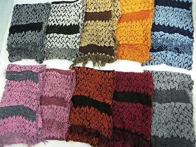 wholesale womens scarves 10 knit winter and fall scarf shawl wrap muffler