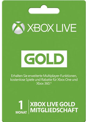 XBOX 360 LIVE 1 MONAT XBOX ONE GOLD MITGLIEDSCHAFT CODE 1 MONTH Subscription Key